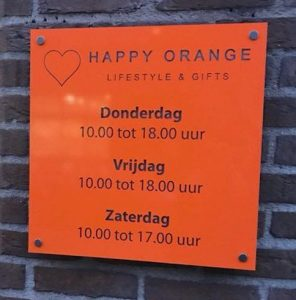 happy orange openingstijden