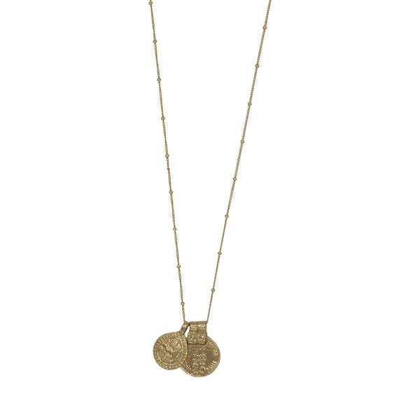 À la India Coin & Drop Necklace