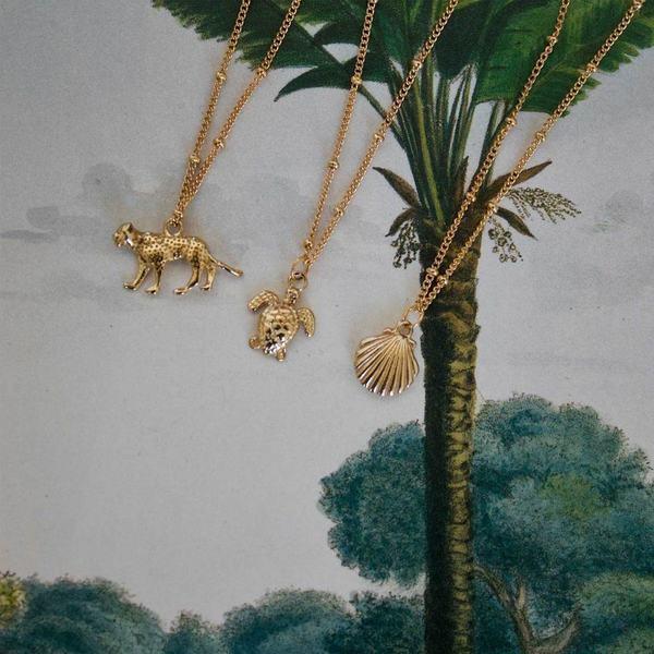 A la Leopard Detailed Necklace sfeerbeeld