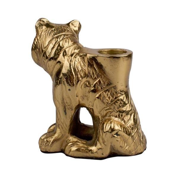À la Big sitting Tiger candle Holder 4