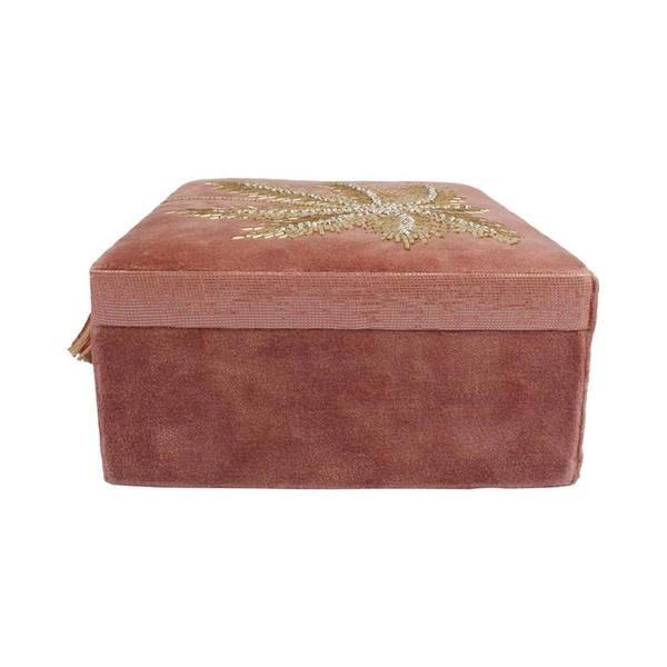 À la Velvet Box With Palmtrees in Beads zijkant