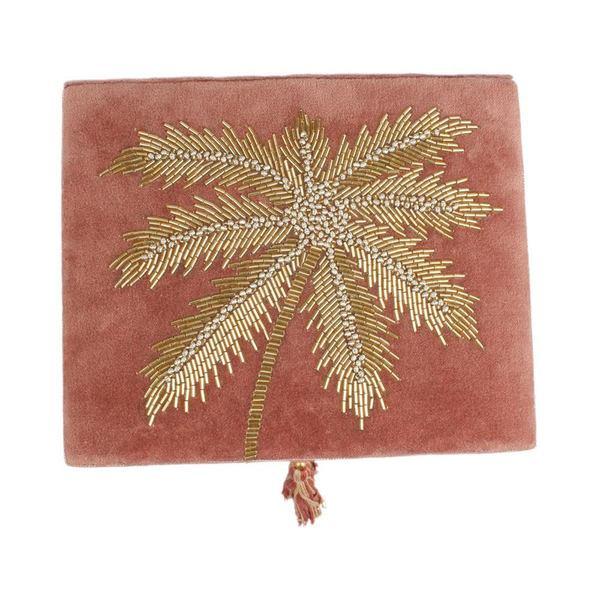 À la Velvet Box With Palmtrees in Beads bovenkant