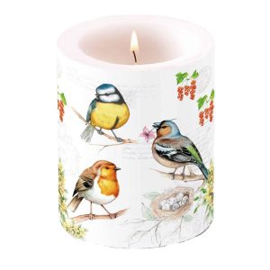 Ambiente kaars Birds on Twig groot