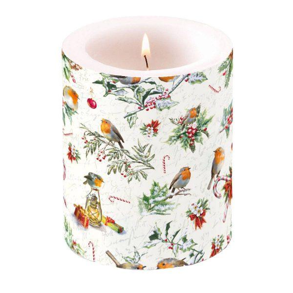 Ambiente kaars Christmas Ornaments groot