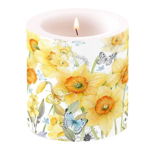Ambiente kaars Classic Daffodils small