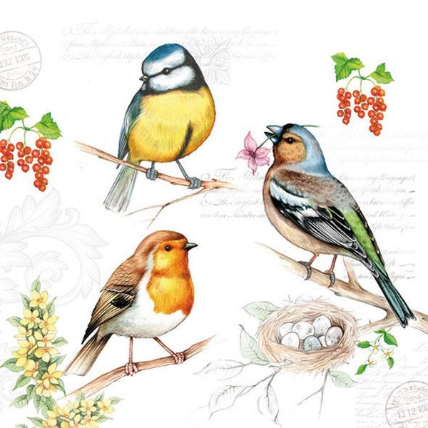 Ambiente servetten Birds On Twig