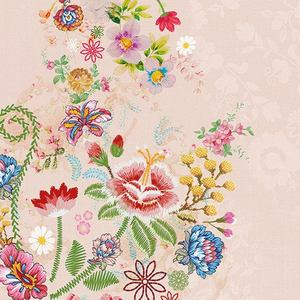 Ambiente servetten Embroidery Flowers Rose
