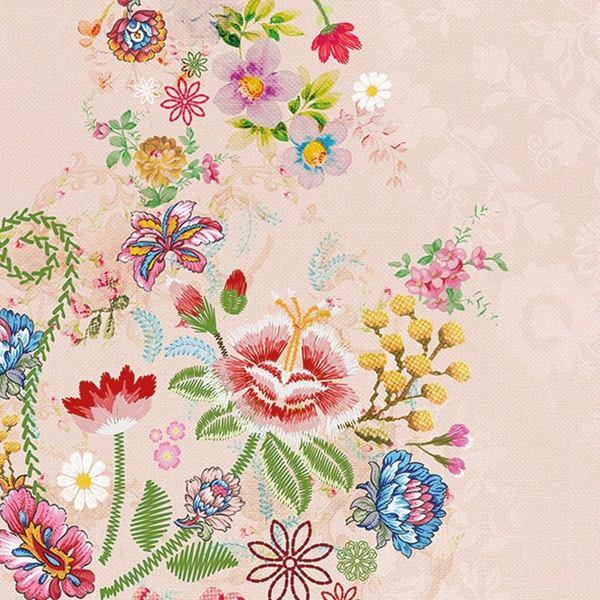 Ambiente servetten Embroidery Flowers Rose