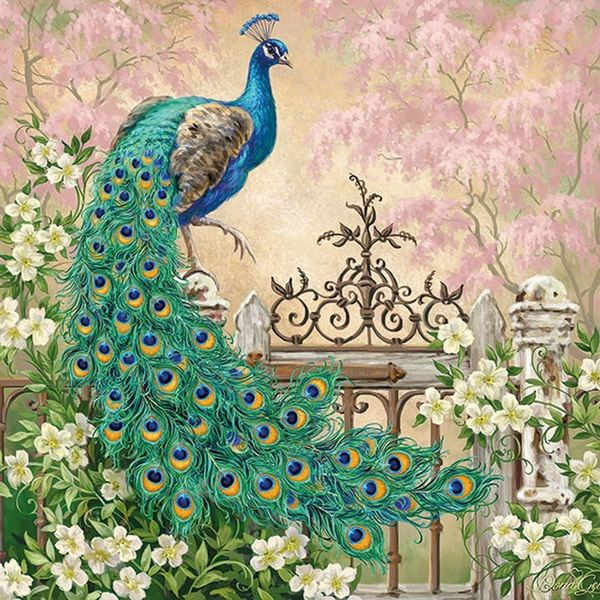 Ambiente servetten Noble Peacock