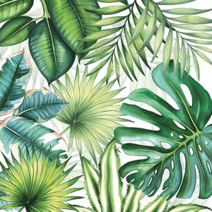 ambiente servetten tropical leaves fsc mix