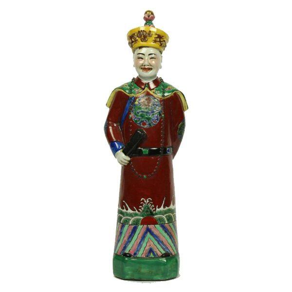 Porseleinen beeld Keizer Rood staand