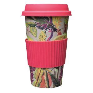 Catchii bamboe koffie to go beker flamingo wild jungle stories