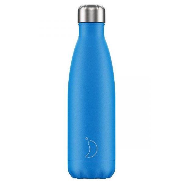 Chilly's Bottle Neon Blauw 500ml