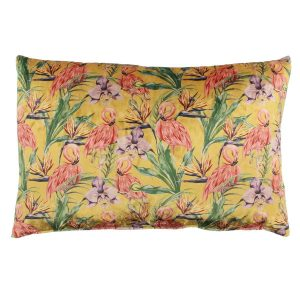 Claudi kussen Flamingo Ice Mustard