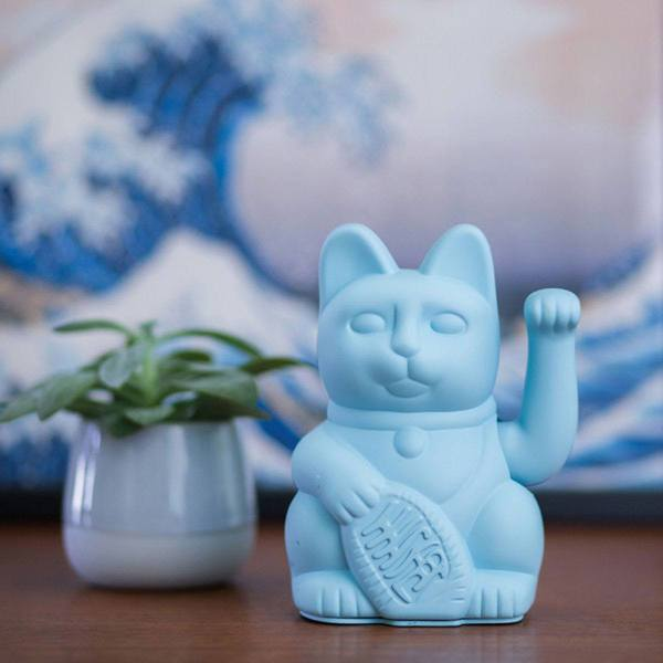 Donkey Lucky Cat blue 2