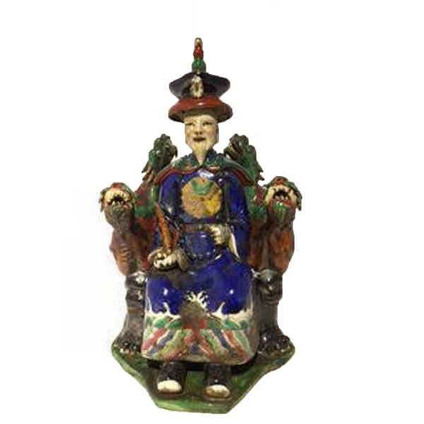 Fine Asianliving Chinese Keizer Draak blauw