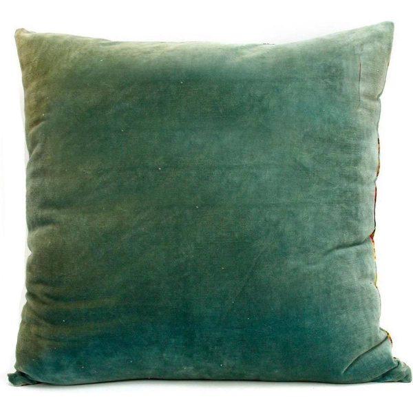 Imbarro kussen Paradise Turquoise achterkant