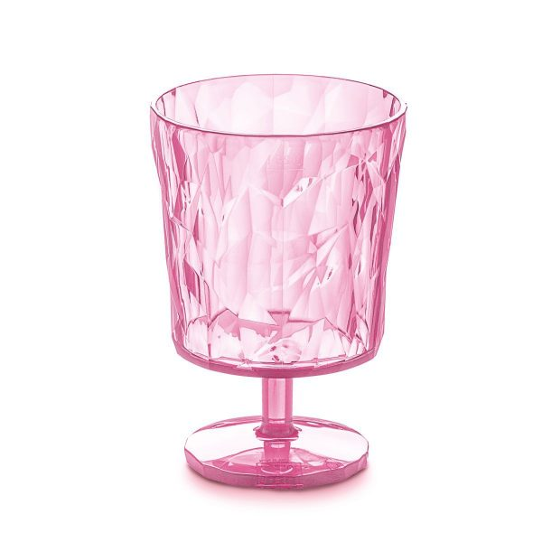 koziol club s glas transparent pink
