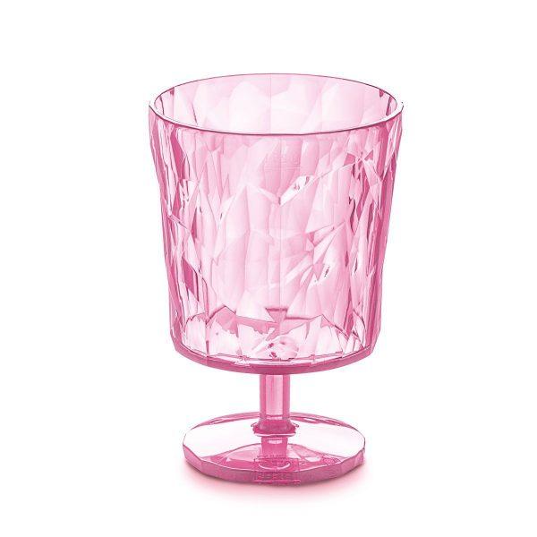 koziol club s glas transparent pink