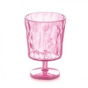 Koziol Club S glas transparant roze