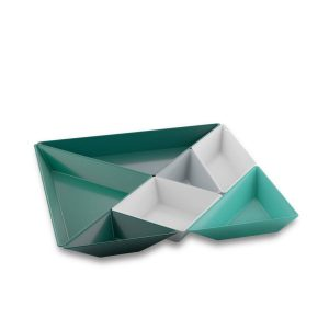 koziol tangram ready groen set schaaltjes