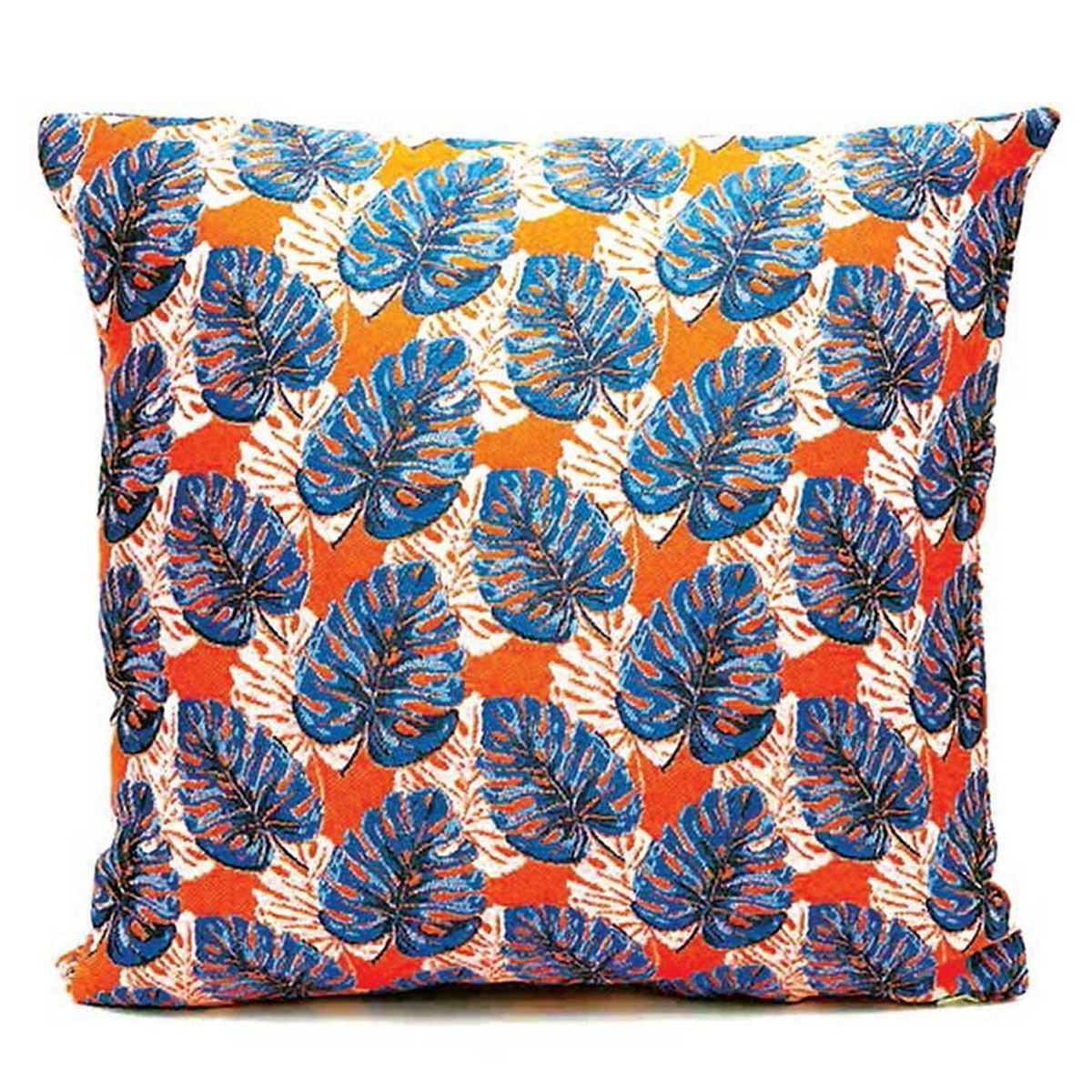 Kussen Blauw Wit.Lazare Home Kussen Hanoi Orange 45x45cm