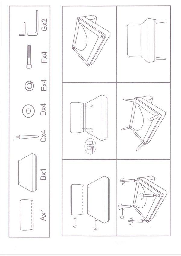lazare home fauteuil hepburn montage handleiding