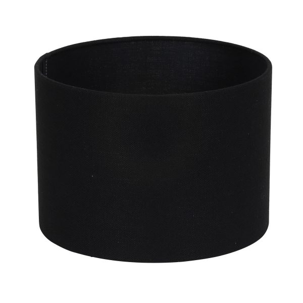 Light & Living lampenkap Livigno zwart Cilinder (30-30-21cm) c