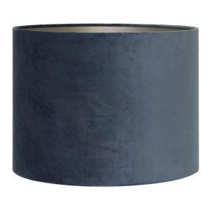 Light & Living lampenkap velours Dusty Blue cilinder (25-25-18 cm)