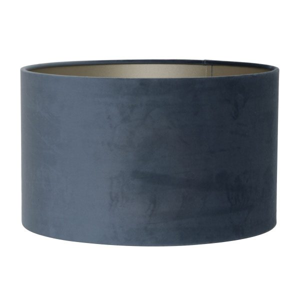 Light & Living lampenkap velours Dusty Blue cilinder (40-40-30 cm)