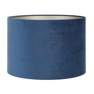 Light & Living lampenkap velours Petrol Blue cilinder (18-18-15 cm)