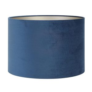 Light & Living lampenkap velours Petrol Blue cilinder (35-35-30 cm)