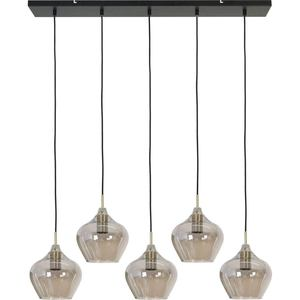 Light & Living Rakel Hanglamp - Antiek Brons/Smoke