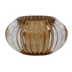 Light & Living theelicht Pertu glas bruin