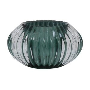 Light & Living theelicht Pertu glas donker groen