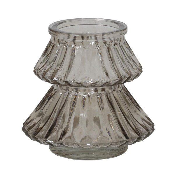 Light & Living theelicht Tree glas grijs Ø11x10 cm