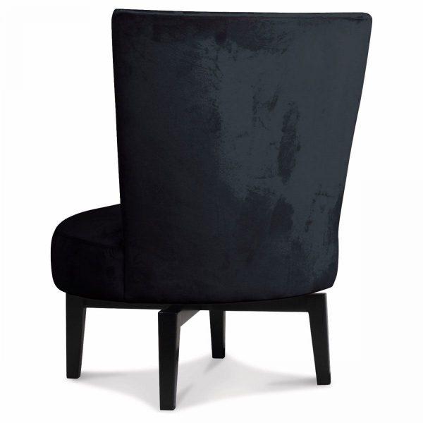 Opjet fauteuil Birkin zwart velours 3