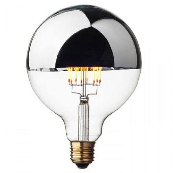 Opjet Globe retro lamp Zilver LED Dimmable