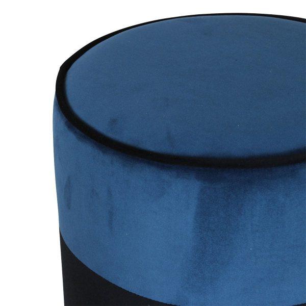 Opjet poef Match Zwart - Blue Canard 2