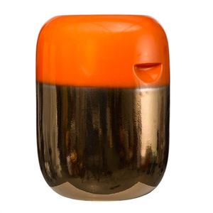 polls potten pill stool orange