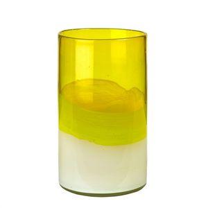pols potten vaas layers yellow