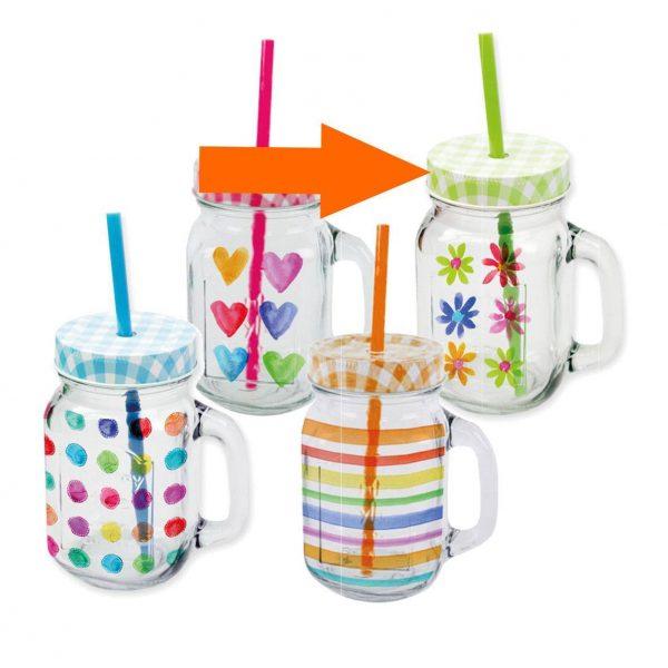 PPD drinkglas Aquarell Bloemen