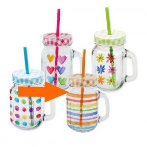PPD drinkglas Aquarell strepen