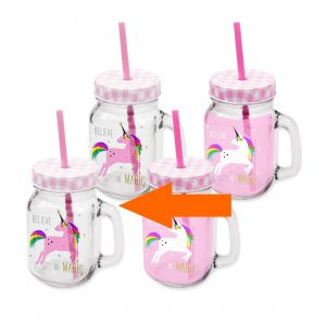 ppd drinkglas unicorn wit