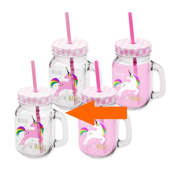 ppd drinkglas unicorn wit