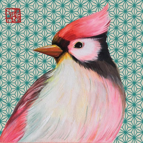 PPD servetten Oiseau Japonais 33x33cm