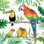 ppd servetten tropical birds small