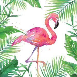 ppd servetten tropical flamingo