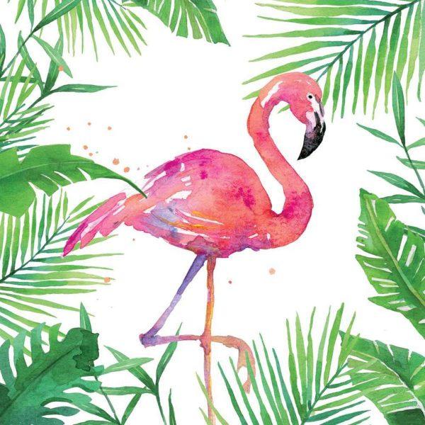 ppd servetten tropical flamingo