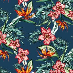 PPD servetten Tropical Flowers